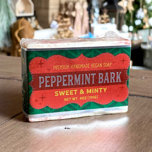 Peppermint Bark Holiday Scented Bar of Soap | Handmade Premium Vegan Soap - A. B. Newton and Company