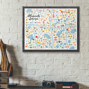 City of Altamonte Springs Florida | Area Map Art Print - A. B. Newton and Company