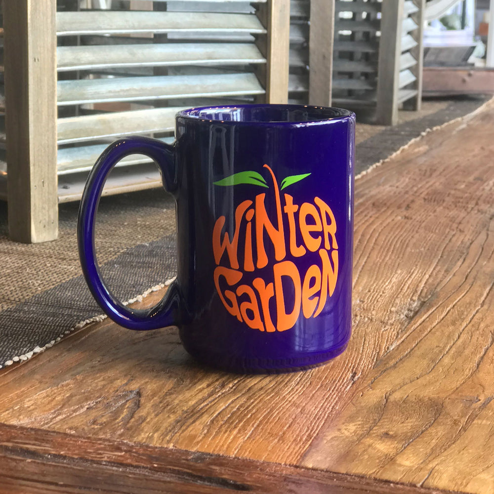 Winter Garden Orange Coffee Mug - A. B. Newton and Company