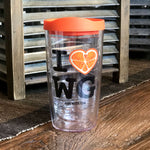 I Love Winter Garden 16oz Classic Tervis with Orange Lid