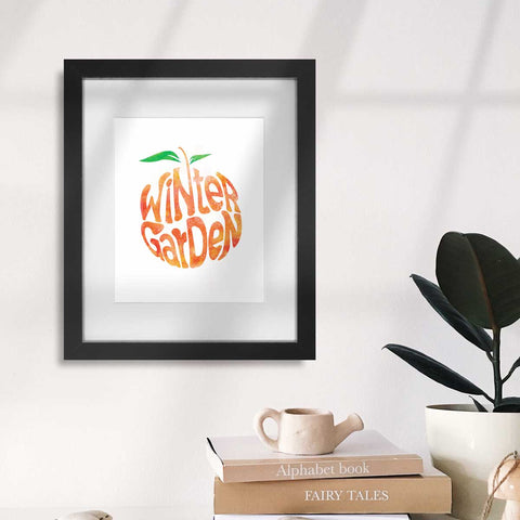 Winter Garden Orange Watercolor | Art Print - A. B. Newton and Company