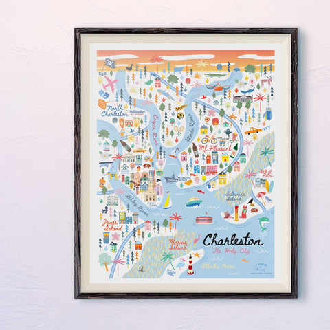 City of Charleston South Carolina | Area Map Art Print - A. B. Newton and Company