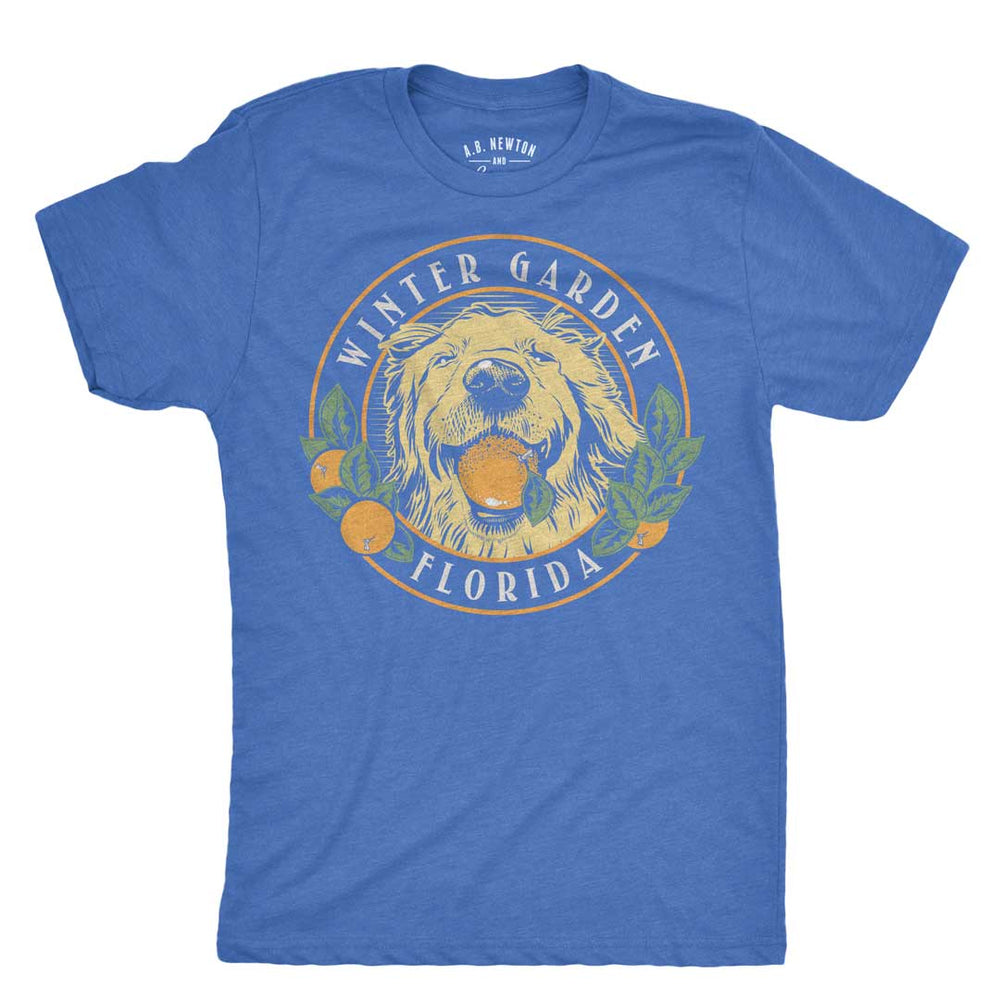Winter Garden Orange Dog Unisex T-Shirt