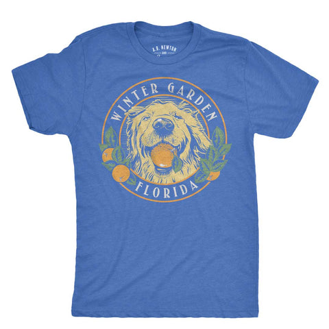Winter Garden Orange Dog Unisex T-Shirt - A. B. Newton and Company