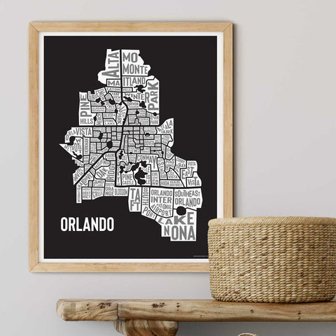 City of Orlando Florida | Area Map Graphic Art Print - A. B. Newton and Company