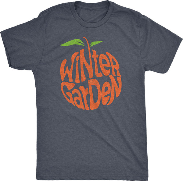 Winter Garden Orange T-Shirt - Unisex - Vintage Navy - A. B. Newton and Company
