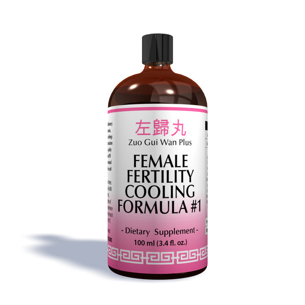 Female Fertility Cooling #1 Traditional Chinese Formula that is an Organic Concentrated Herbal Extract 100ml bottle