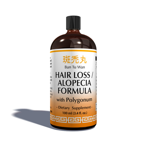 100ml bottle of Hair Loss & Alopecia Traditional Chinese Formula that is an Organic Herbal Remedies