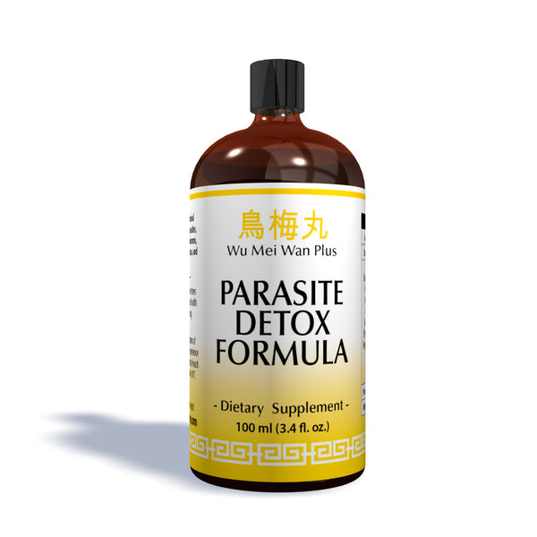100ML bottle of Parasite Detox Organic Formula made by Chinese Medicine Company