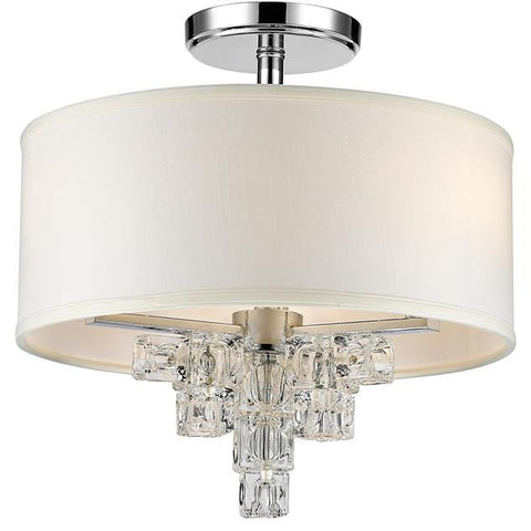 Crystorama Addison 3 Light Flush Mount