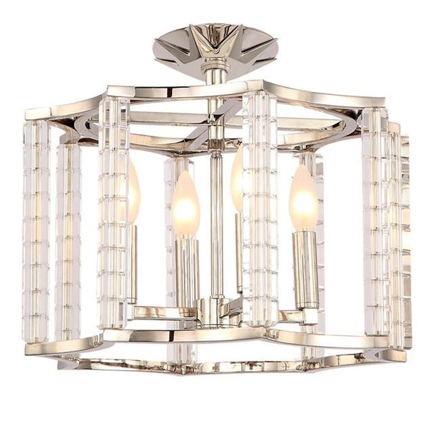 Crystorama Carson 4 Light Flush Mount