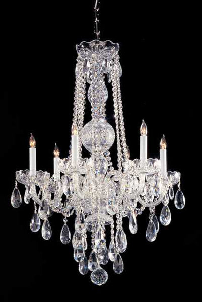 Crystorama Traditional 6 Light Crystal Chandelier