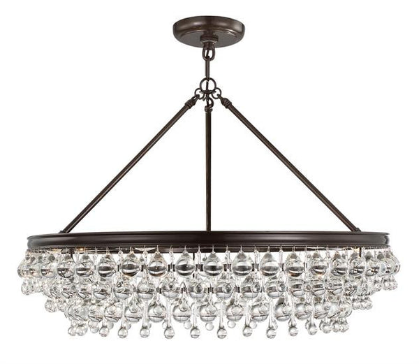 Crystorama Calypso 6 Light Crystal Chandelier