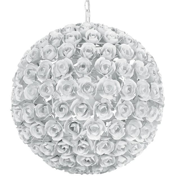 Crystorama Cypress 5 Light Spere Rose Chandelier