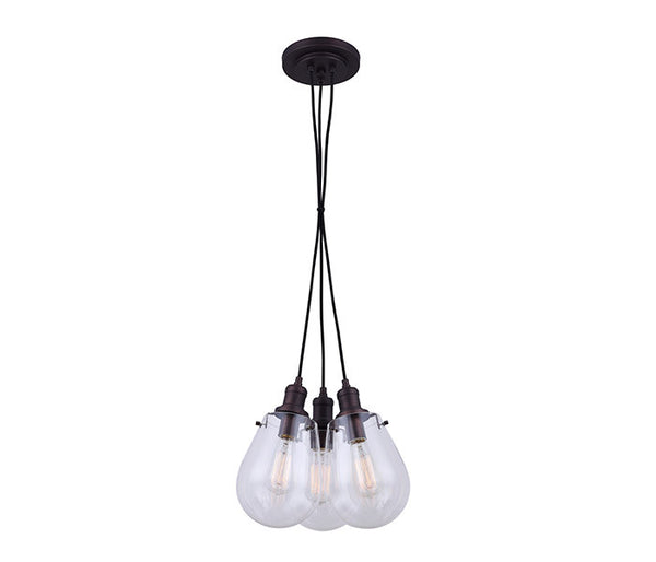 Canarm Gallagher 3 light rod Chandelier