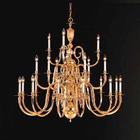 Crystorama 21 Light Brass Chandelier