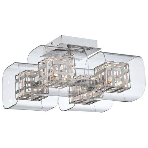 George Kovacs 4 Light Chrome Semi Flush Mount