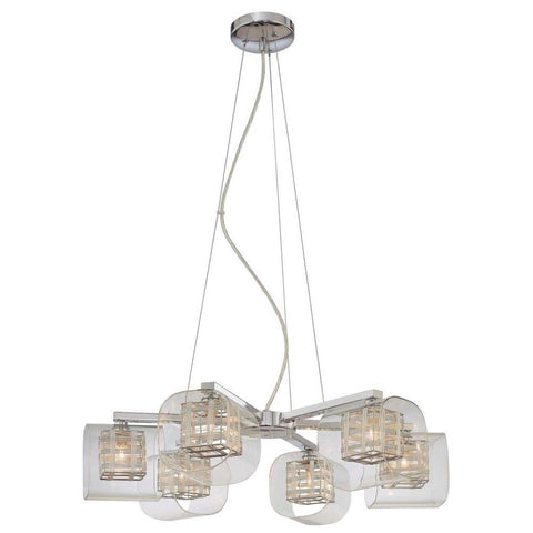 George Kovacs 6 Light Chrome Chandelier
