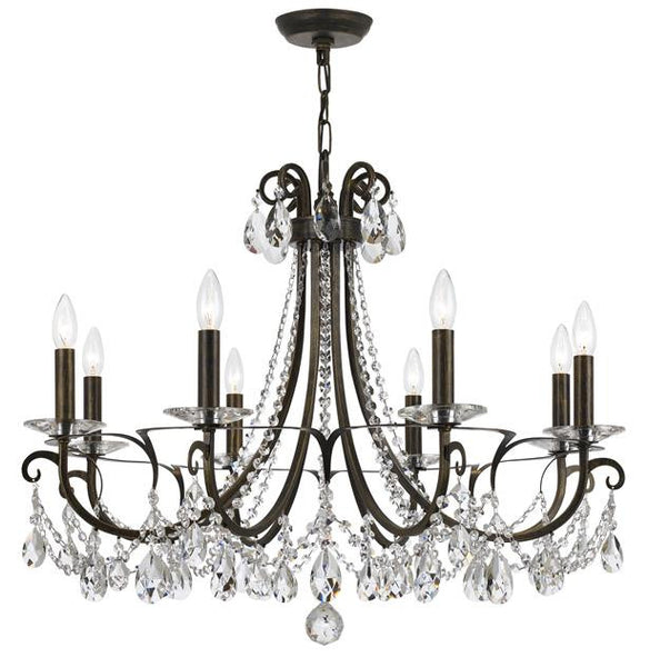 Crystorama Othello 8 Light Crystal Chandelier