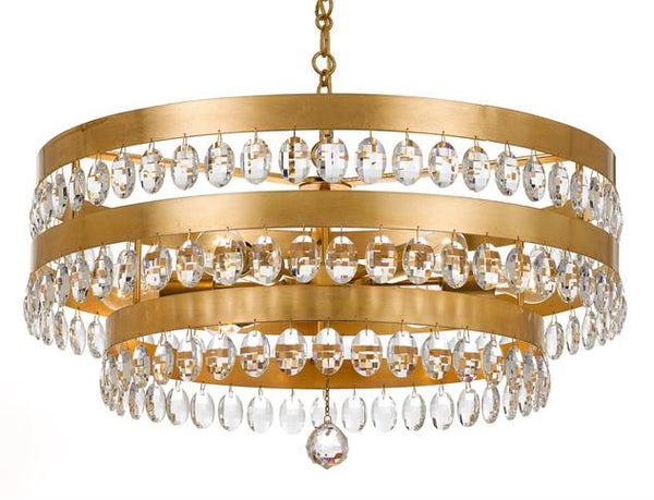 Crystorama Perla 6 Light Chandelier