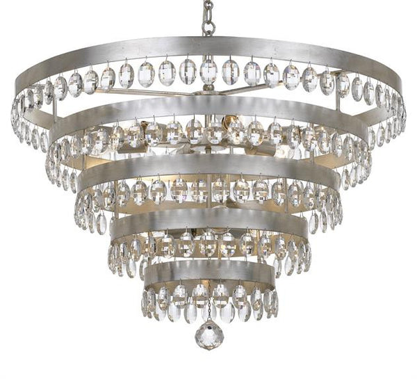 Crystorama Perla 9 Light Chandelier