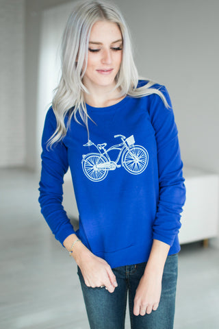 Blue Bicycle Sweatshirt