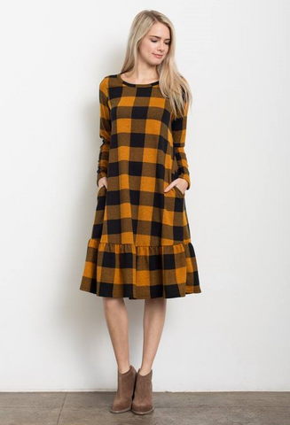 Grace Plaid Dress