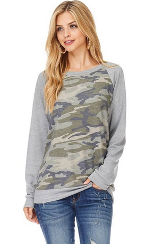Brooklyn Camo Top