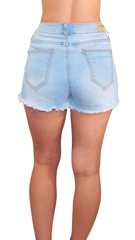Starla Light Wash Denim Shorts