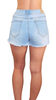 Image of Starla Light Wash Denim Shorts