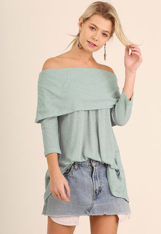 Long Sleeve off the shoulder Tunic Top