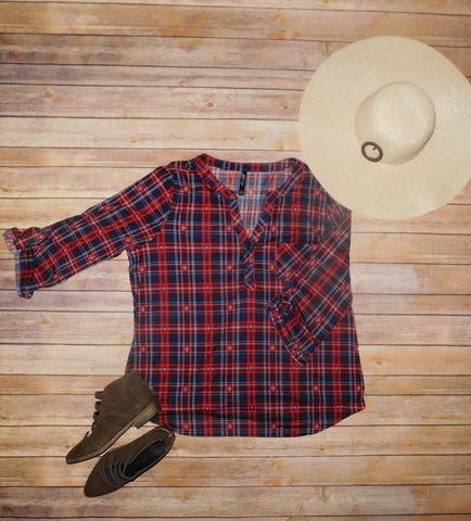 Pioneer Plaid Top