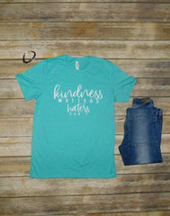 Kindness Matters Teal Graphic Tee