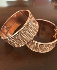 Rose Gold Bling Cuff
