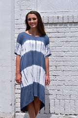 Tie- Dye Dress - Indigo