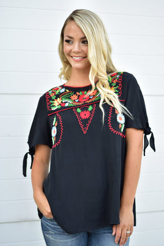 Izzy Embroidered Top