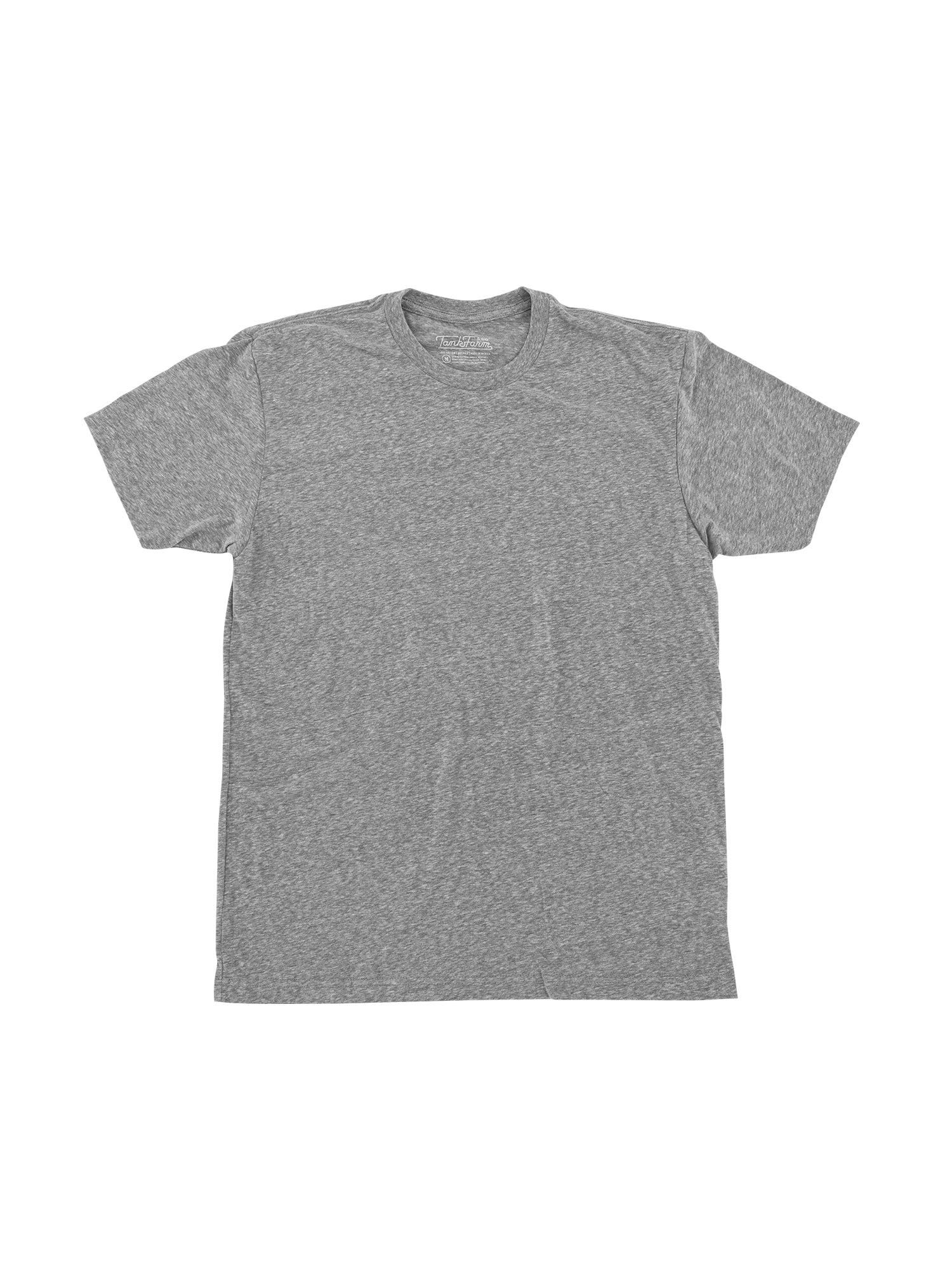 SUEDED CREW - SNOW HEATHER GREY