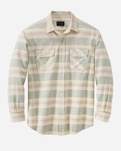 BEACH SHACK SHIRT - INDIGO/RUST STRIPE - Tankfarm & Co.