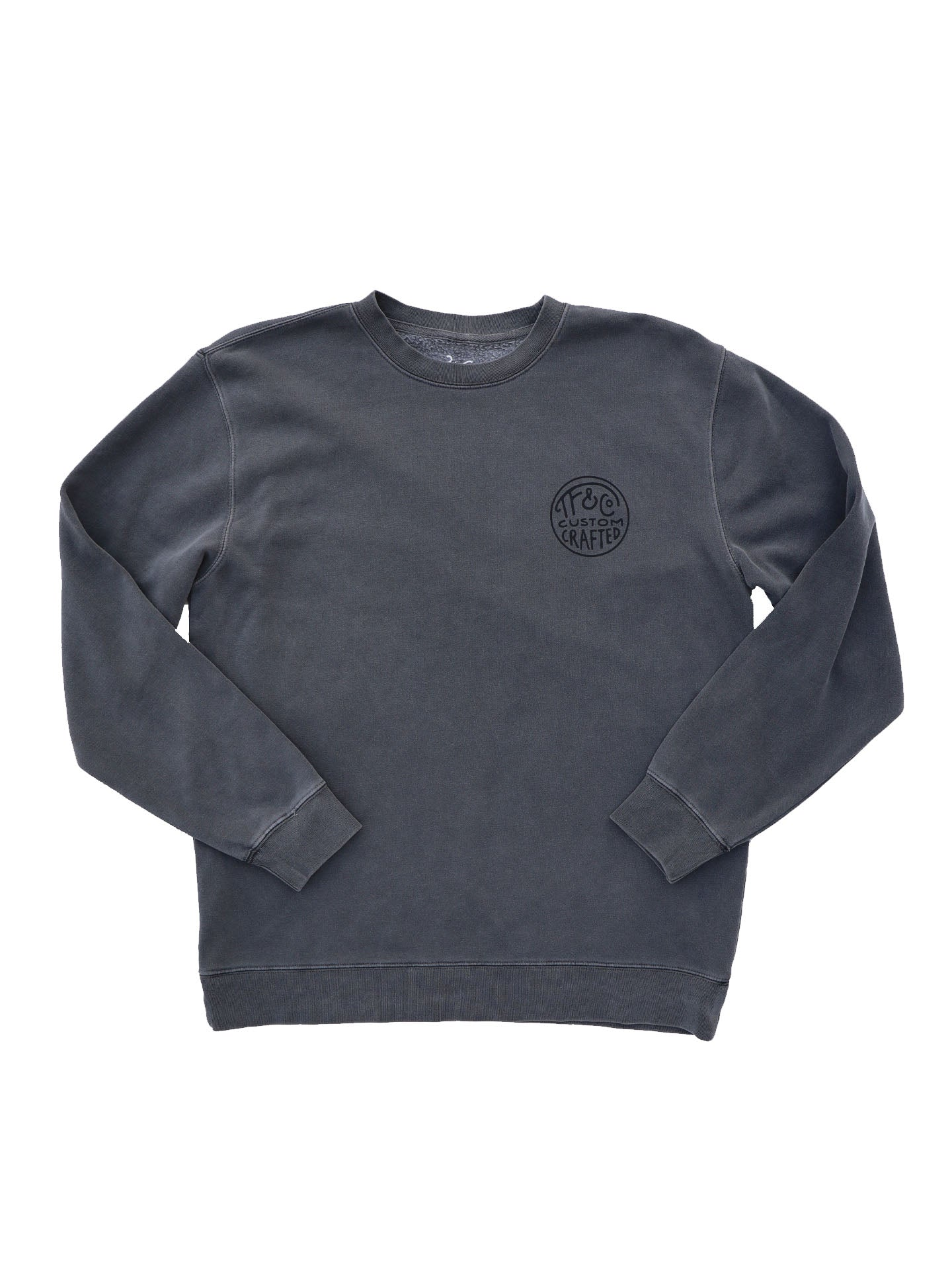 TF BRANDED PULLOVER - VINTAGE BLACK - Tankfarm & Co.