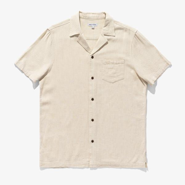 BRIGHTON S/S SHIRT - BONE - Tankfarm & Co.