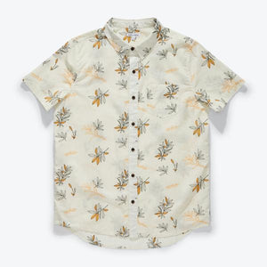NEIGHBOUR S/S WOVEN SHIRT - BONE - Tankfarm & Co.