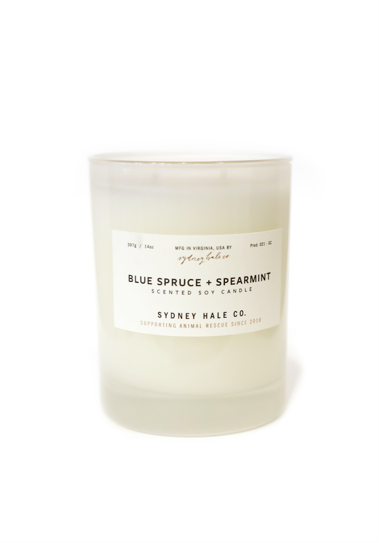 SYDNEY HALE CANDLE - BLUE SPRUCE + SPEARMINT - Tankfarm & Co.