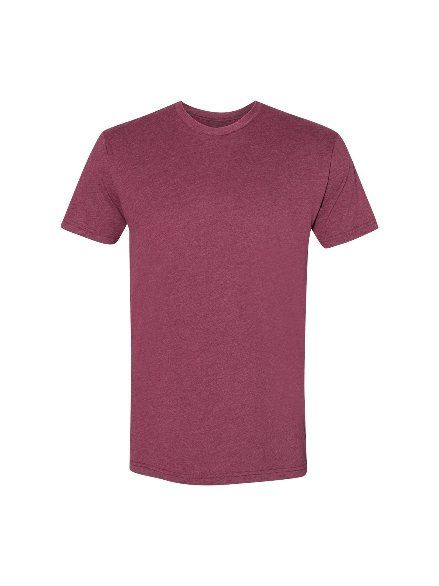 SUEDED CREW - HEATHER MAROON