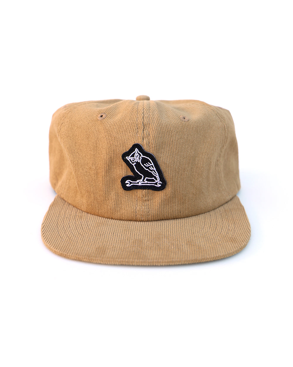 TF NIGHT CREW OWL CORDUROY CAP - TAN - Tankfarm & Co.