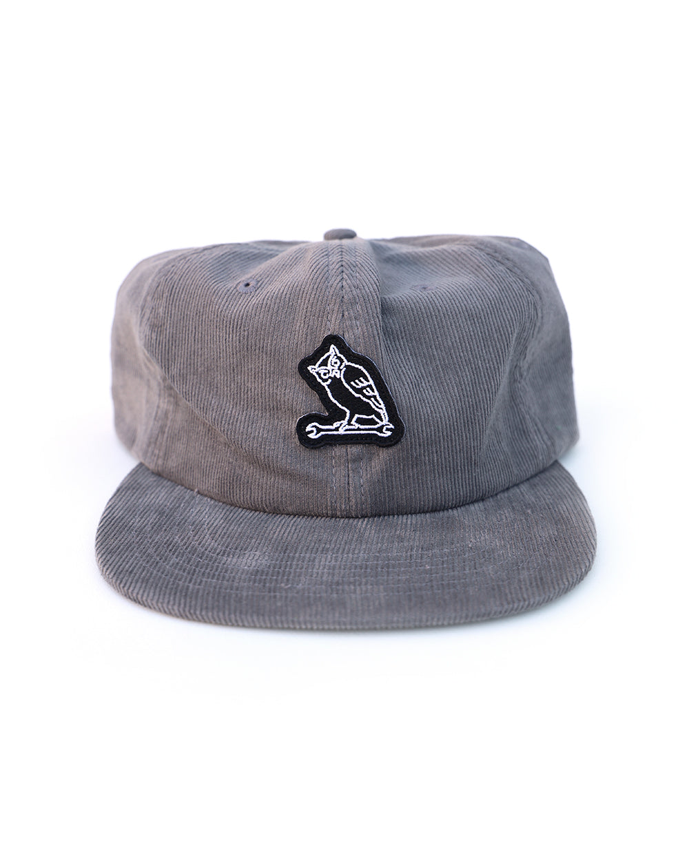 TF NIGHT CREW OWL CORDUROY CAP - GREY - Tankfarm & Co.