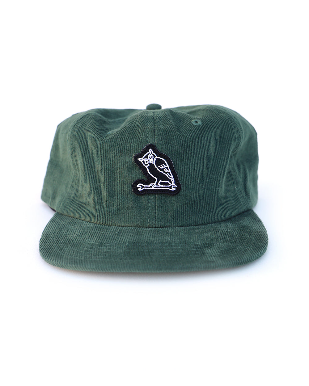 TF NIGHT CREW OWL CORDUROY CAP - OLIVE - Tankfarm & Co.