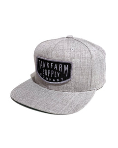TANKFARM STANDARD BRAND SNAPBACK - HEATHER GREY - Tankfarm & Co.