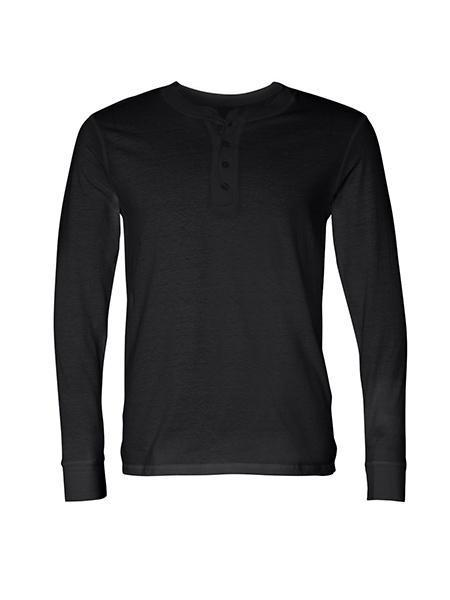 TankFarm APPAREL - TOPS - LONGSLEEVES - TF LONG SLEEVE HENLEY- BLACK