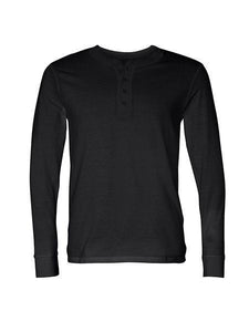 TF LONG SLEEVE HENLEY, BLACK