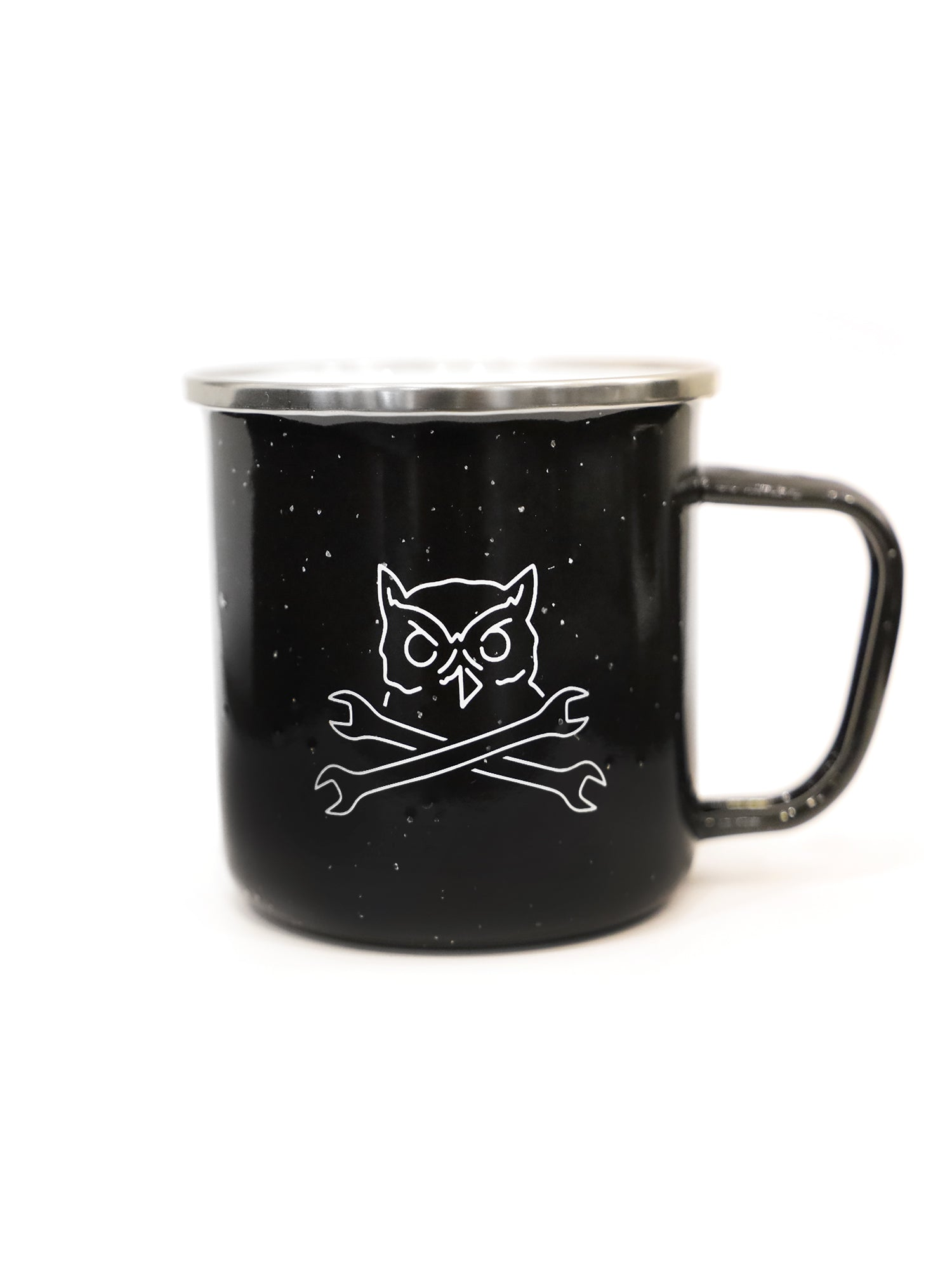 OWL CAMP MUG - BLACK - Tankfarm & Co.